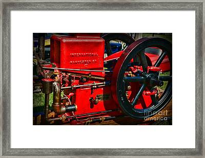 Farm Equipment - International Harvester Feed And Cob Mill Framed Print by Paul Ward