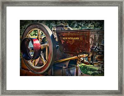 Farm Equipment - New Holland Feed And Cob Mill Framed Print by Paul Ward