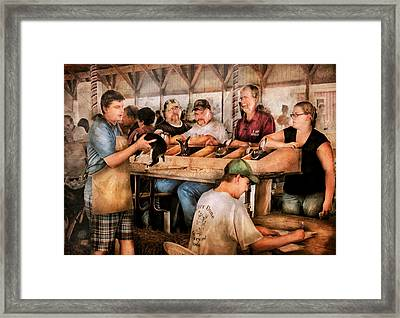 Farm - Farmer - By The Pound Framed Print by Mike Savad