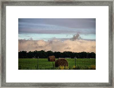 Farm Field Drama Framed Print by Dan Sproul