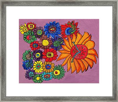 Farm Flower Framed Print by Brandon Drucker