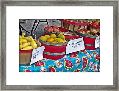 Farm Fresh Produce At The Farmers Market Framed Print by JW Hanley
