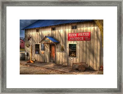 Farm Fresh Produce Framed Print by Mel Steinhauer
