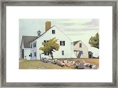 Farm House At Essex Massachusetts Framed Print by Edward Hopper