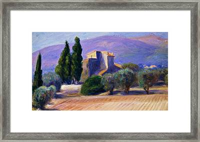 Farm House In Provence Framed Print by William James Glackens