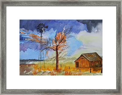 Farm In Clayton County  Framed Print by Warren Thompson