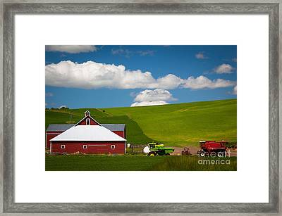 Farm Machinery Framed Print by Inge Johnsson