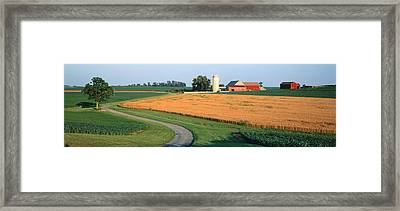 Farm Nr Mountville Lancaster Co Pa Usa Framed Print by Panoramic Images