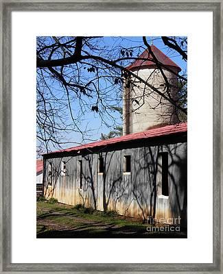 Farm Shadows Framed Print by Amy Stuart Langlo