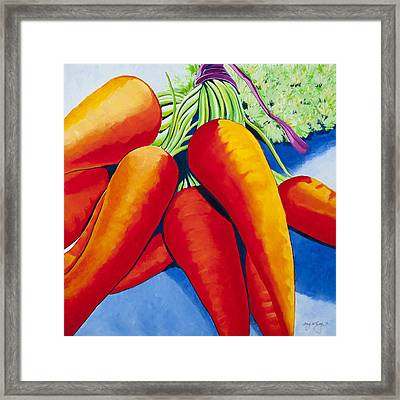 Farm Share Day Framed Print by Amy McKay