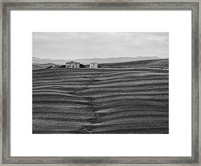 Farm Sienna Framed Print by Hugh Smith