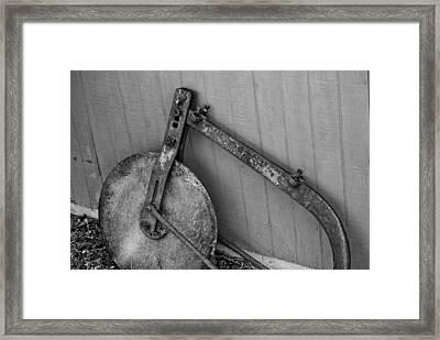 Farm Tools Framed Print by Jon Cody