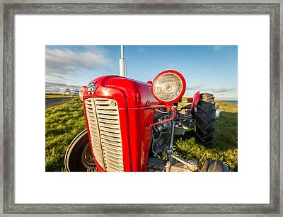Farm Tractor, Flatey Island Framed Print by Panoramic Images