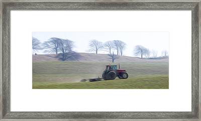 Farm Tractor Framed Print by Stefan Petrovici