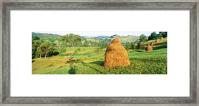 Farm, Transylvania, Romania Framed Print by Panoramic Images