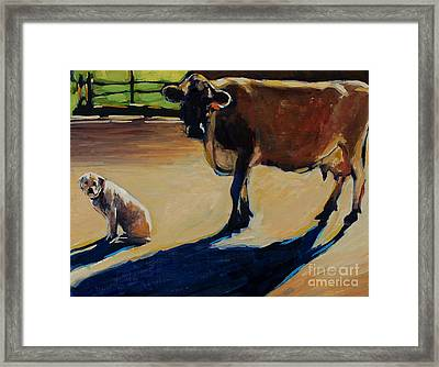 Farm Visit Framed Print by Molly Poole