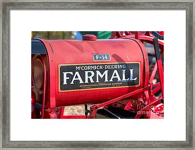 Farmall F-14 Tractor I Framed Print by Clarence Holmes