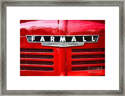 Farmall Framed Print by Olivier Le Queinec