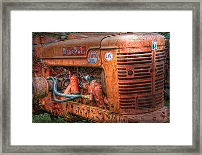 Farmall Tractor Framed Print by Bill Wakeley