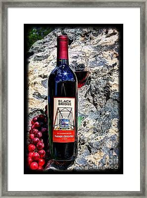 Farmer's Ditch Red Framed Print by Bob Hislop