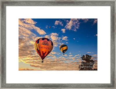 Farmer's Insurance Hot Air Ballon Framed Print by Robert Bales