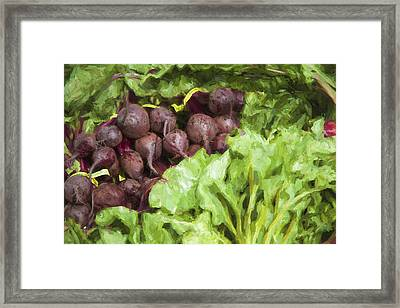 Farmers Market Beets And Greens Framed Print by Carol Leigh