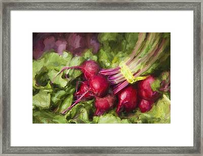 Farmers Market Beets Framed Print by Carol Leigh