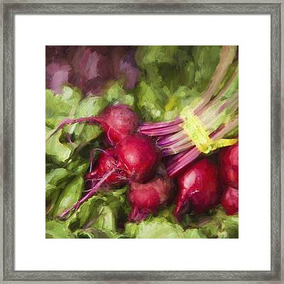 Farmers Market Beets Square Format Framed Print by Carol Leigh