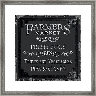 Farmers Market Framed Print by Debbie DeWitt