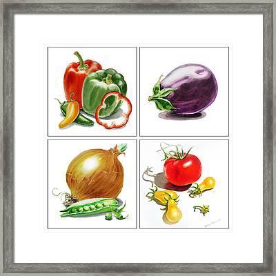 Farmers Market Delight  Framed Print by Irina Sztukowski