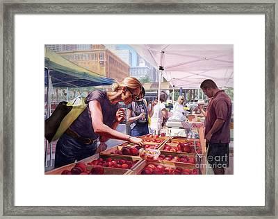 Farmer's Market Framed Print by Isabella Kung
