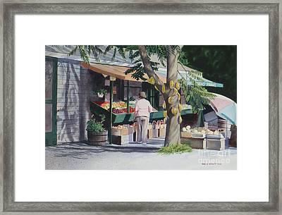 Farmer's Market Framed Print by Karol Wyckoff