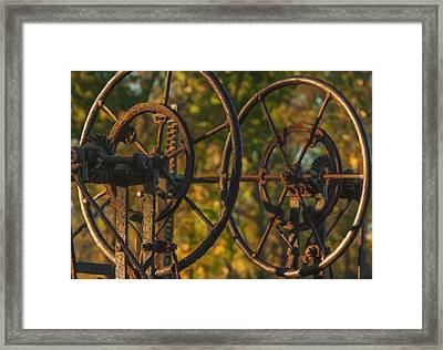 Farmers Tools Of Old Framed Print by Jack Zulli