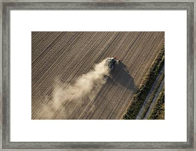 Farming, Chavagnes En Paillers Framed Print by Laurent Salomon