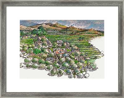 Farming Compound Framed Print by Andrew Drozdowicz
