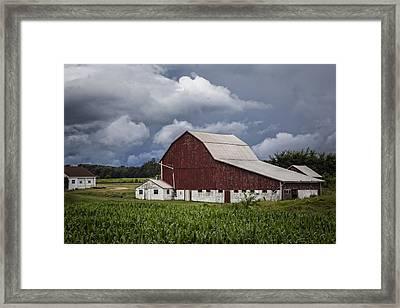 Farming Framed Print by Debra and Dave Vanderlaan