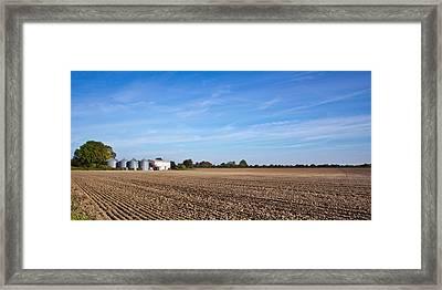 Farming Landscape Framed Print by Tom Gowanlock