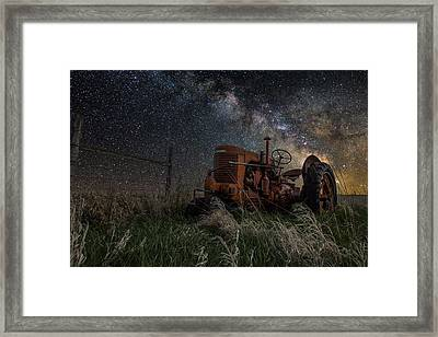 Farming The Rift Framed Print by Aaron J Groen