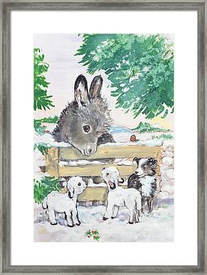 Farmyard Friends, 1996  Framed Print by Diane Matthes