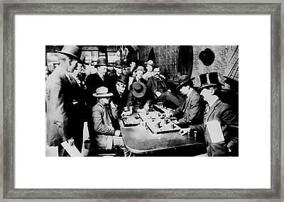Faro Game Orient Saloon C. 1900 - Arizona Framed Print by Daniel Hagerman