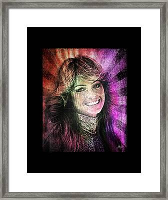 Farrah Fawcett Framed Print by Absinthe Art By Michelle LeAnn Scott