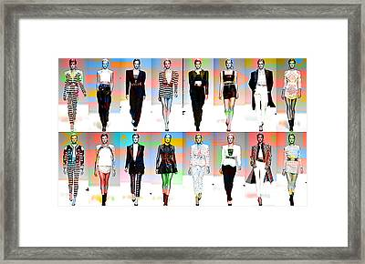 Fashion And Color Framed Print by Marvin Blaine