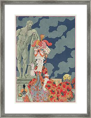 Fashion At Its Highest Framed Print by Georges Barbier