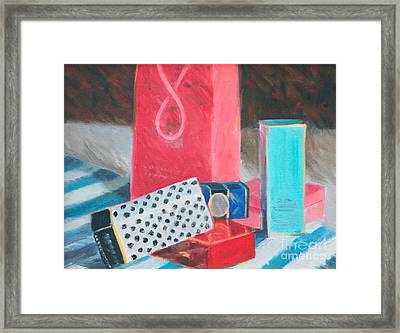 Fashion Boxes Framed Print by Candace Lovely