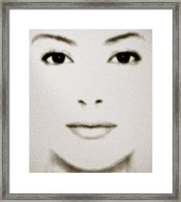 Fashion Face Framed Print by Frank Tschakert