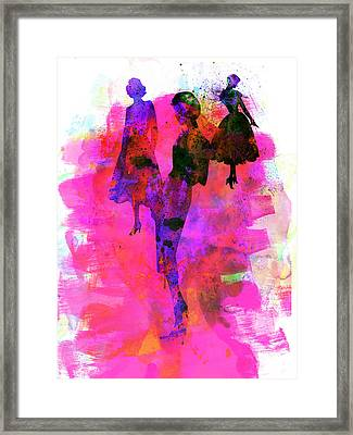 Fashion Models 1 Framed Print by Naxart Studio
