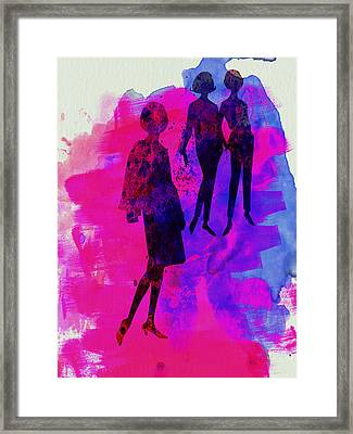 Fashion Models 4 Framed Print by Naxart Studio