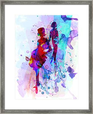 Fashion Models 5 Framed Print by Naxart Studio