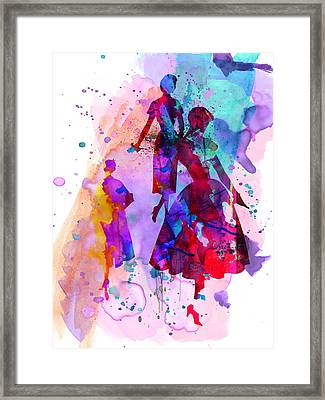 Fashion Models 6 Framed Print by Naxart Studio