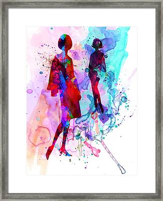 Fashion Models 8 Framed Print by Naxart Studio